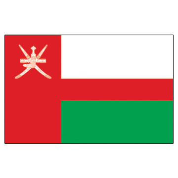 Oman Flags      High-Quality 1-ply Car Window Flag With Clip Attachment