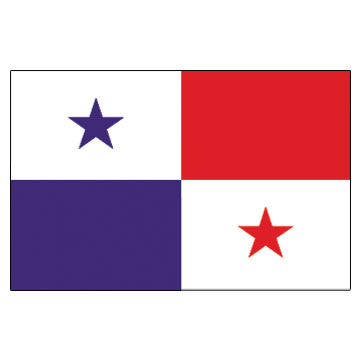 Panama Flags      High-Quality 1-ply Car Window Flag With Clip Attachment