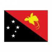 Papua New Guinea Flags      High-Quality 1-ply Car Window Flag With Clip Attachment