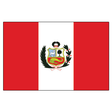 Peru  Flags      High-Quality 1-ply Car Window Flag With Clip Attachment