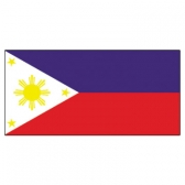 Philippines  Flags      High-Quality 1-ply Car Window Flag With Clip Attachment