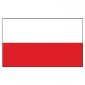 Poland  Flags      High-Quality 1-ply Car Window Flag With Clip Attachment