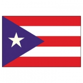 Puerto Rico  Flags      High-Quality 1-ply Car Window Flag With Clip Attachment