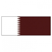 Qatar  Flags      High-Quality 1-ply Car Window Flag With Clip Attachment