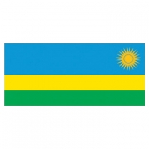 Rwanda  Flags      High-Quality 1-ply Car Window Flag With Clip Attachment