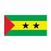 Sao Tome & Principe  Flags      High-Quality 1-ply Car Window Flag With Clip Attachment
