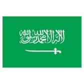 Saudi Arabia  Flags      High-Quality 1-ply Car Window Flag With Clip Attachment