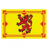 Scotland(Royal) Flags      High-Quality 1-ply Car Window Flag With Clip Attachment