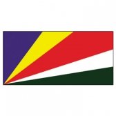Seychelles Flags      High-Quality 1-ply Car Window Flag With Clip Attachment