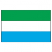 Sierra Leone Flags      High-Quality 1-ply Car Window Flag With Clip Attachment