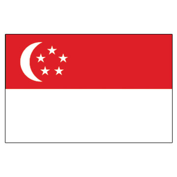 Singapore Flags      High-Quality 1-ply Car Window Flag With Clip Attachment