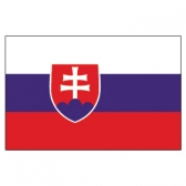 Slovakia Flags      High-Quality 1-ply Car Window Flag With Clip Attachment