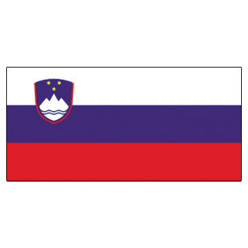 Slovenia Flags      High-Quality 1-ply Car Window Flag With Clip Attachment