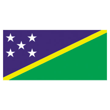 Solomon Islands Flags      High-Quality 1-ply Car Window Flag With Clip Attachment