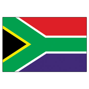 South Africa Flags      High-Quality 1-ply Car Window Flag With Clip Attachment