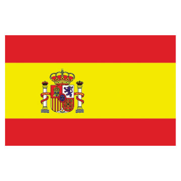 Spain Flags      High-Quality 1-ply Car Window Flag With Clip Attachment