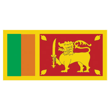 Sri Lanka Flags      High-Quality 1-ply Car Window Flag With Clip Attachment