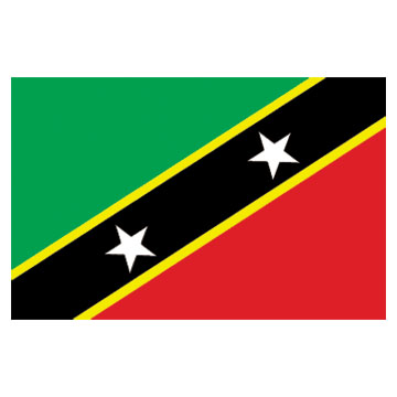 St. Kitts & Nevis Flags      High-Quality 1-ply Car Window Flag With Clip Attachment