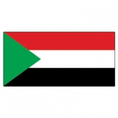 Sudan  Flags      High-Quality 1-ply Car Window Flag With Clip Attachment