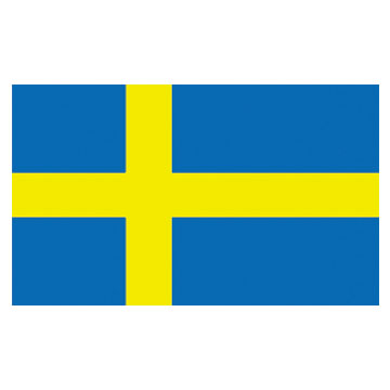 Sweden  Flags      High-Quality 1-ply Car Window Flag With Clip Attachment