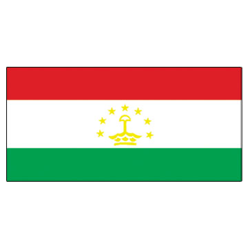 Tajikistan  Flags      High-Quality 1-ply Car Window Flag With Clip Attachment