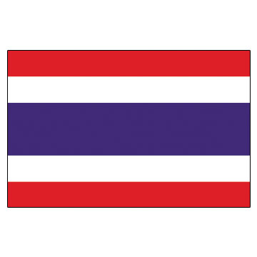 Thailand  Flags      High-Quality 1-ply Car Window Flag With Clip Attachment