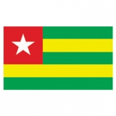 ToGo  Flags      High-Quality 1-ply Car Window Flag With Clip Attachment