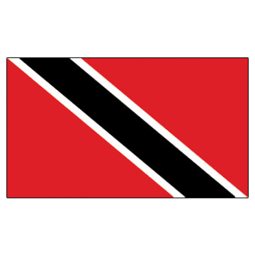 Trinidad Tobago  Flags      High-Quality 1-ply Car Window Flag With Clip Attachment
