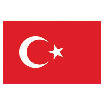 Turkey  Flags      High-Quality 1-ply Car Window Flag With Clip Attachment