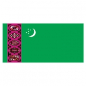 Turkmenistan  Flags      High-Quality 1-ply Car Window Flag With Clip Attachment