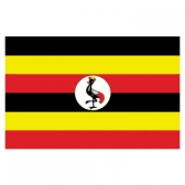 Uganda  Flags      High-Quality 1-ply Car Window Flag With Clip Attachment