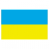 Ukraine Flags      High-Quality 1-ply Car Window Flag With Clip Attachment