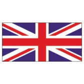 United Kingdom Flags      High-Quality 1-ply Car Window Flag With Clip Attachment