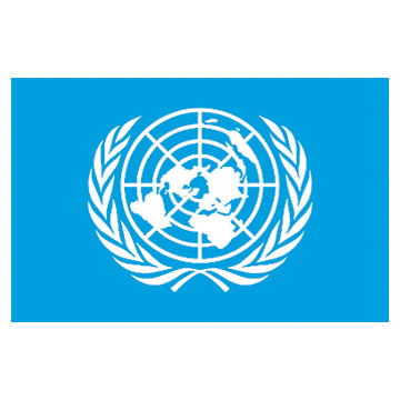United Nations Flags      High-Quality 1-ply Car Window Flag With Clip Attachment