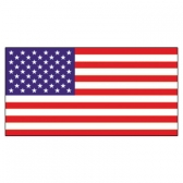 U.S.A  Flags      High-Quality 1-ply Car Window Flag With Clip Attachment