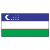 Uzbekistan  Flags      High-Quality 1-ply Car Window Flag With Clip Attachment