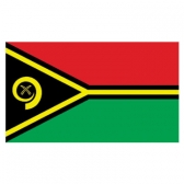 Vanuatu  Flags      High-Quality 1-ply Car Window Flag With Clip Attachment