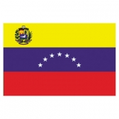 Venezuela  Flags      High-Quality 1-ply Car Window Flag With Clip Attachment