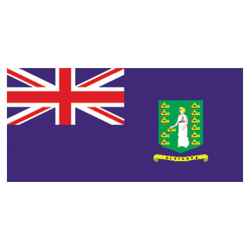 Virgin Islands(U.K) Flags      High-Quality 1-ply Car Window Flag With Clip Attachment