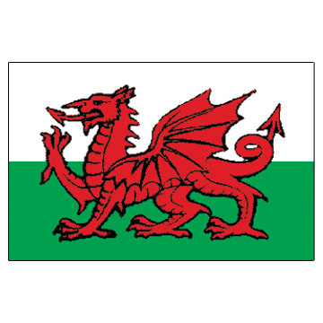 Wales Islands(U.S.A) Flags      High-Quality 1-ply Car Window Flag With Clip Attachment