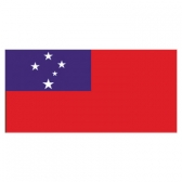 Western Samoa Flags      High-Quality 1-ply Car Window Flag With Clip Attachment