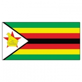 Zimbabwe Flags      High-Quality 1-ply Car Window Flag With Clip Attachment