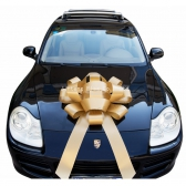 40 Inch Wedding Favor Glossy Ribbon Magnetic Gold Car Bow
