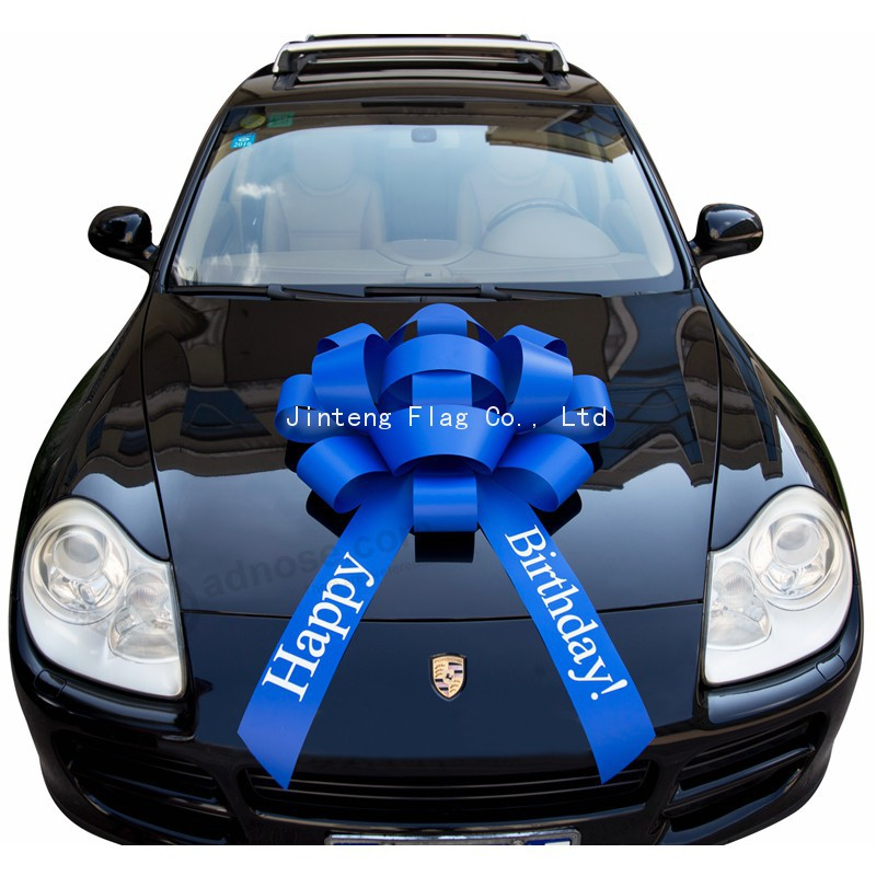 40 Inch Giant Blue Birthday Car Bow