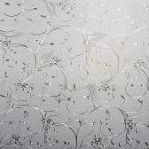 3D Static Cling Removable Window Film Stained Flower Glass Sticker Bathroom Slide Door