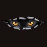 Cool 3D Car Styling Funny Cat Eyes Peeking Sticker
