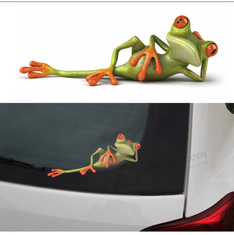 New 3D Frog Car Stickers Car Styling Vinyl Decal Sticker Decoration
