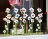 High Quality Custom Large Size Static Flower Window Clings