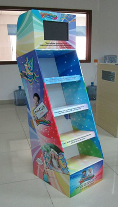 Wholesale Custom Printed Cardboard Promotional Flooring Counter Display Box