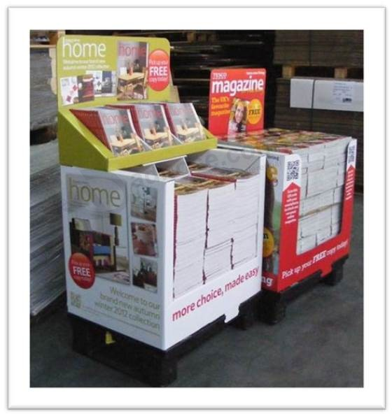 High end Printed Cardboard Promotional Pallet Counter Display Box